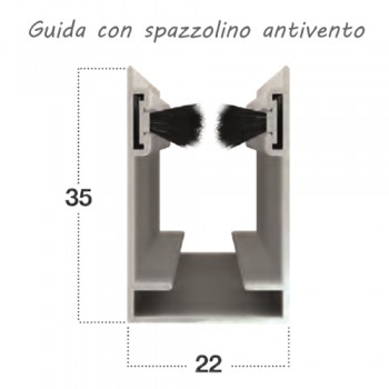 Zanzariera verticale antivento slim 32mm