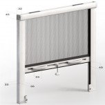 Zanzariera verticale antivento slim 32mm