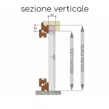 Zanzariera verticale a rullo (da incasso a scomparsa)