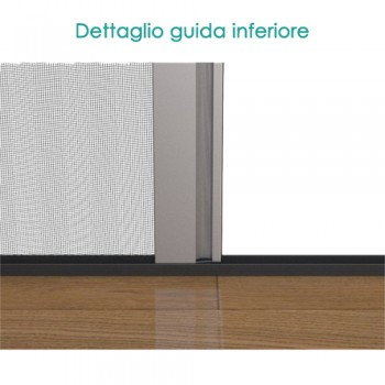 Zanzariera plissettata slim porta finestra