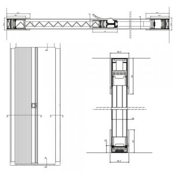 Zanzariera plissettata per balconi