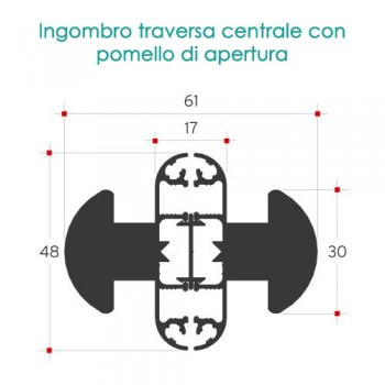 Zanzariera per porta finestra battente magnetica